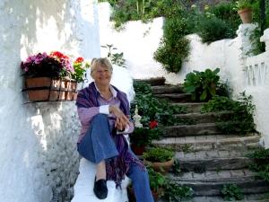 Maureen Booth at her studio in Granada, Spain