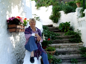 Maureen Booth at her studio in Granada, Spain